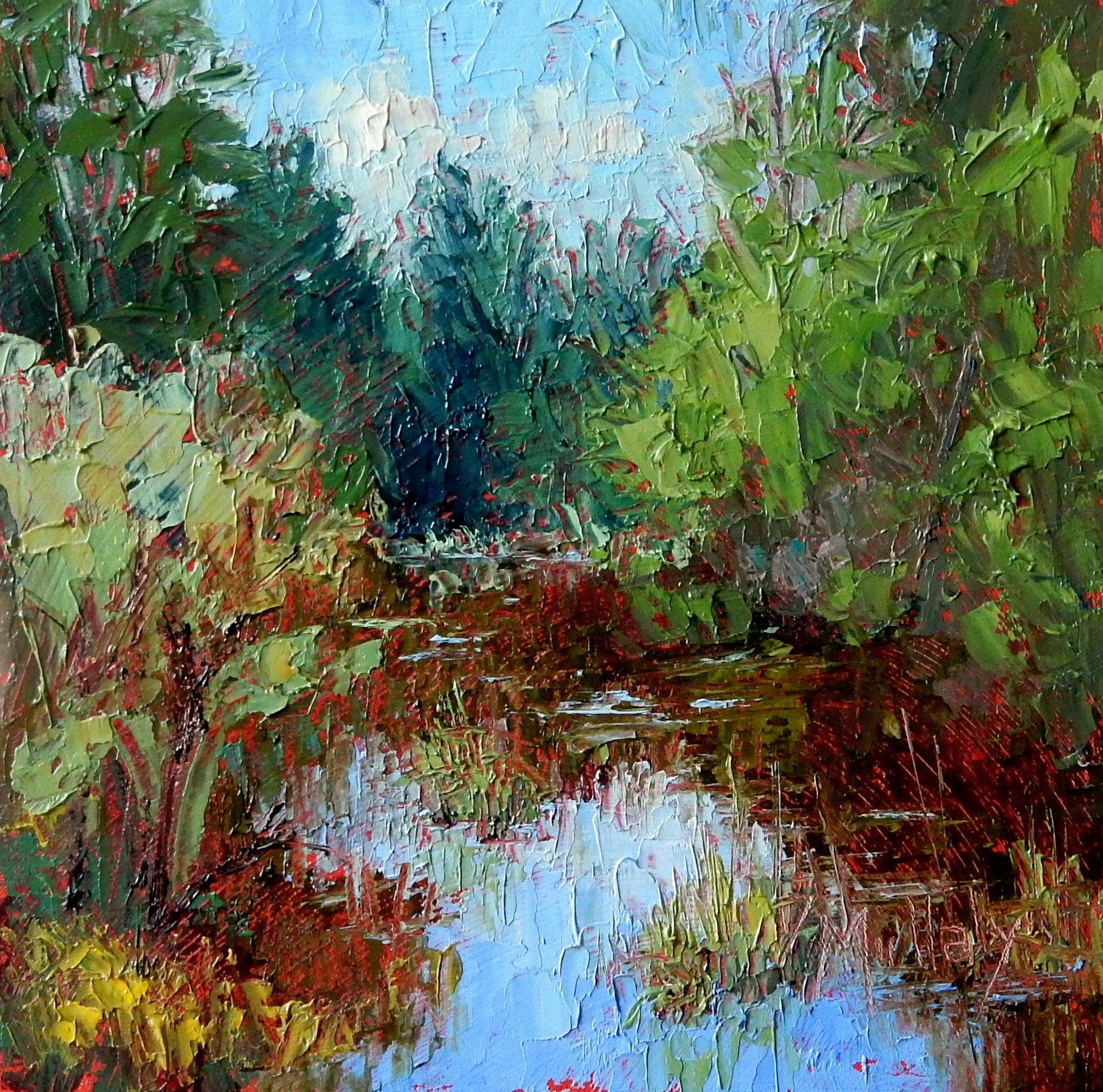 Light and Life, Plein Air Oil Paintings by Diane DuBois Mullaly at Adkins Arboretum